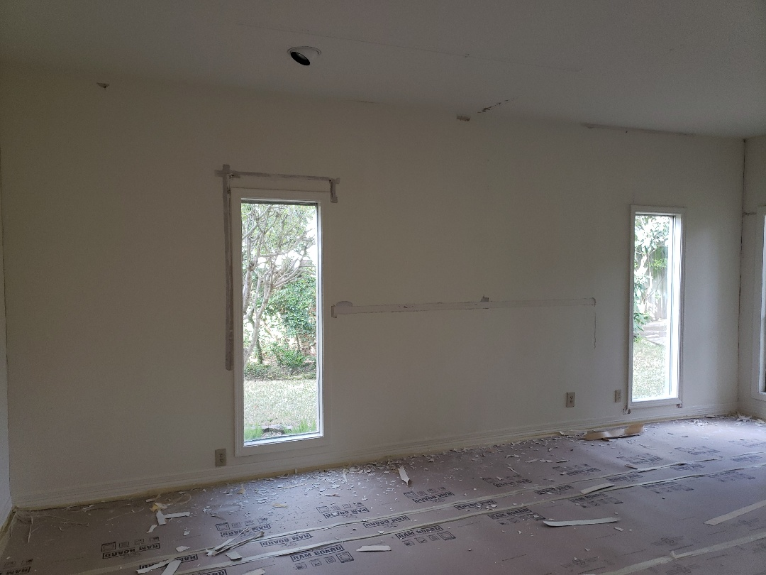 Alamo Heights, TX - Sheetrock repairs after foundation fix.