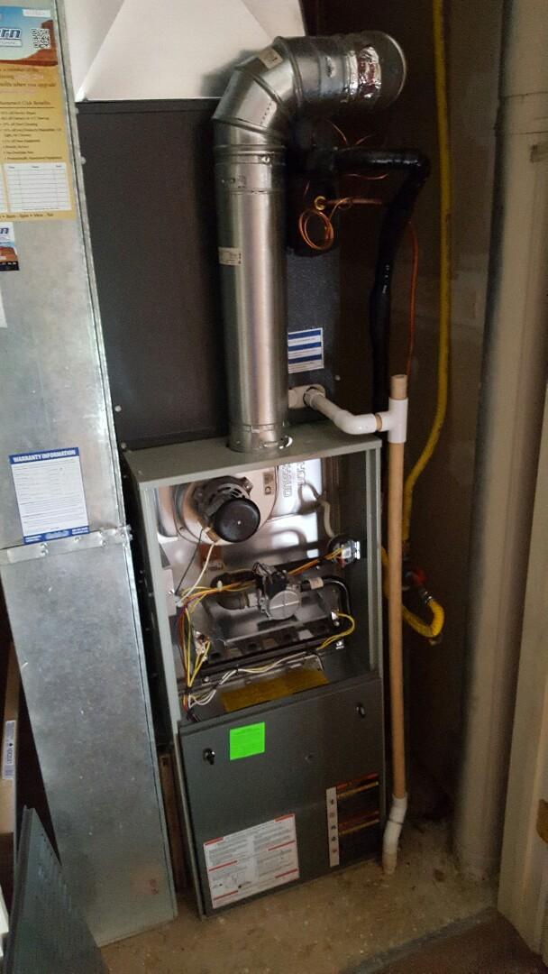Riverton, UT - Furnace tuneup on a Trane furnace.