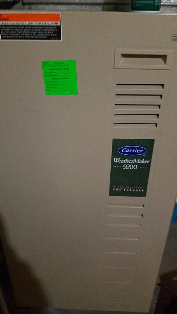 Salt Lake City, UT - Finished furnace tune up on carrier unit
