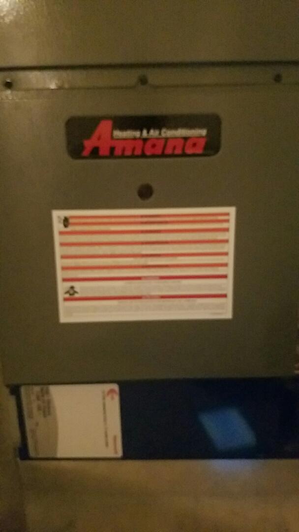 Eagle Mountain, UT - Finished furnace tune up on Amana system