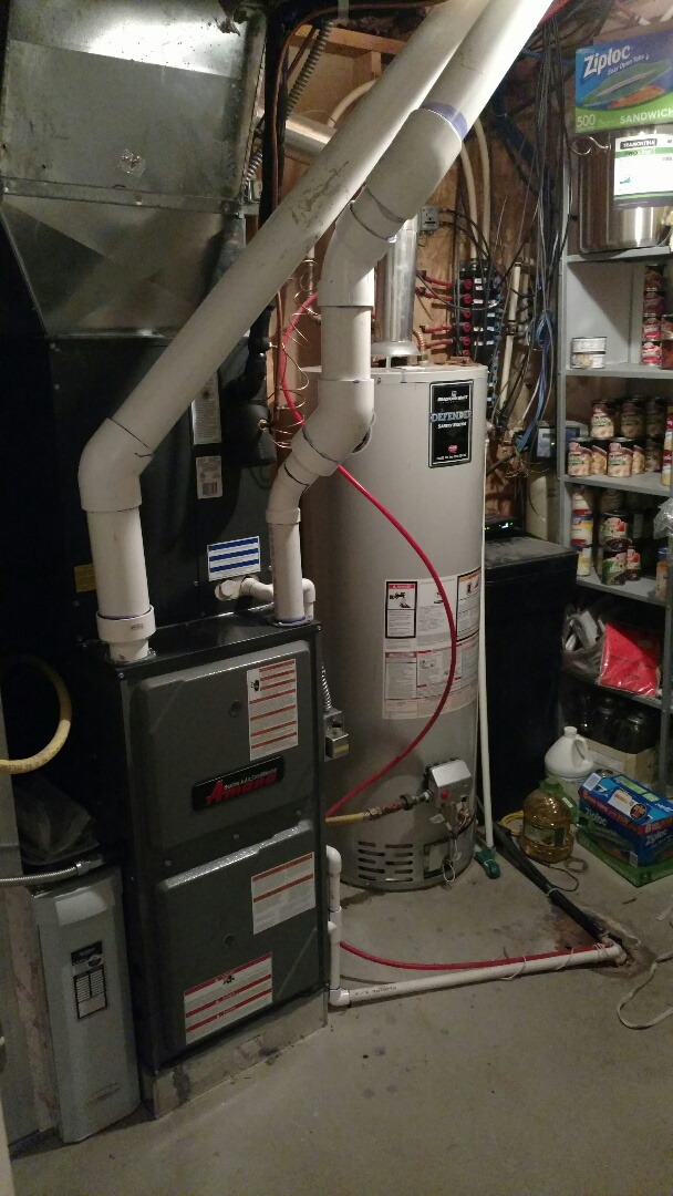 Santaquin, UT - Full furnace and AC change out. Ran new PVC flus for 90% furnace.