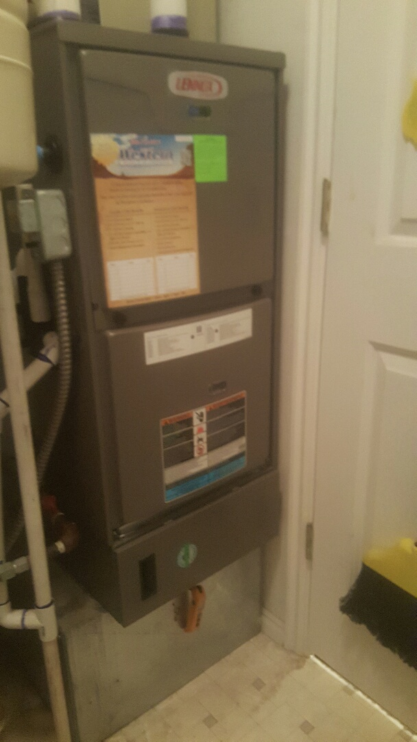Santaquin, UT - Furnace install. Installed new lennox. 95% furnace