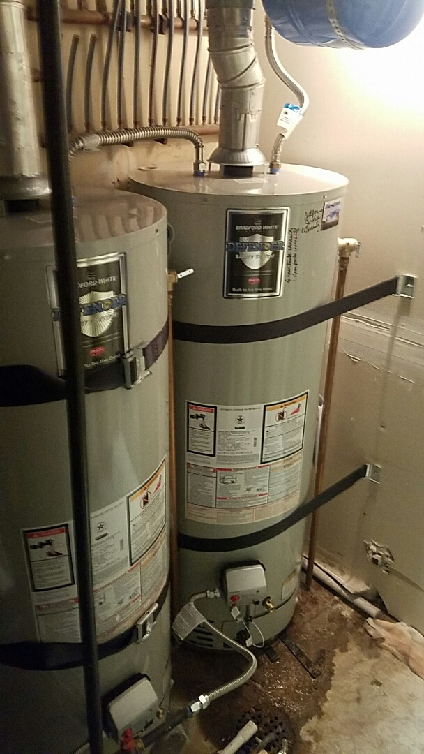 Riverton, UT - 2 new 50 gallon water heaters new expansion tank and gas supplies.