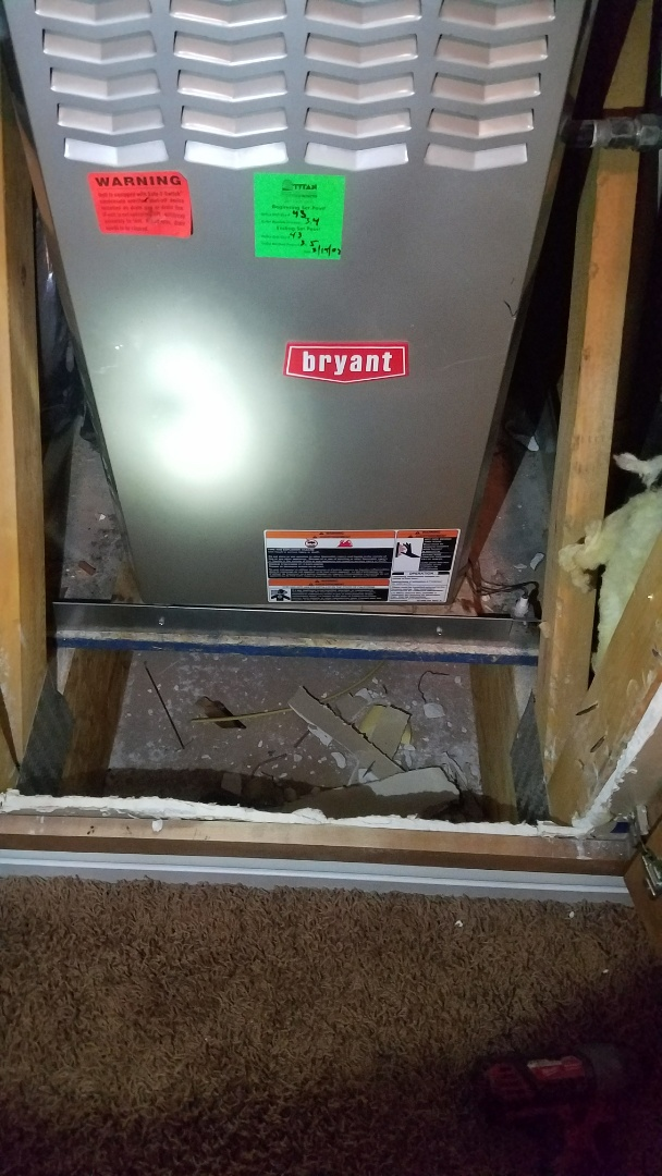 Spanish Fork, UT - Sent to install drain pan for a.c. system in attic. Pan was already installed.