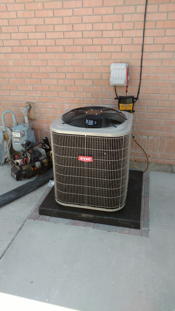 Provo, UT - AC coil and outdoor condensing unit add on. Added air supply line for front room.