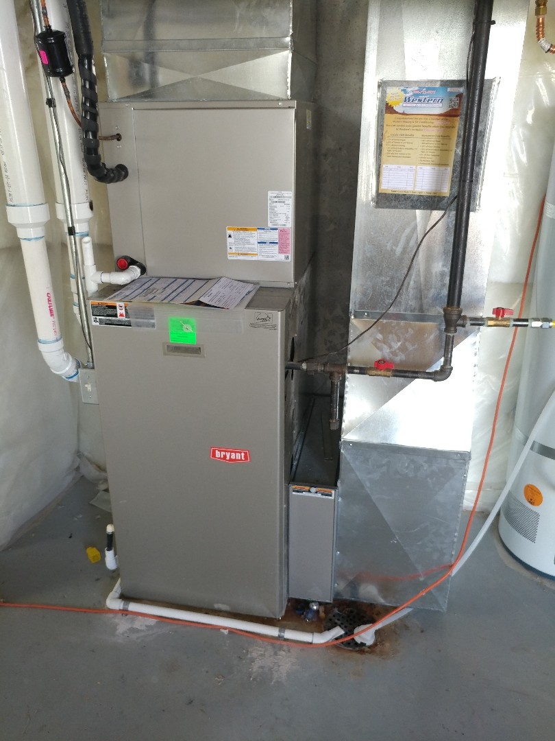 "Eagle Mountain, UT - New bryant air conditioner and 4"" filter cabinet installed"