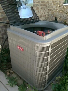 Lindon, UT - Starting an A/C tune up on a Bryant system.