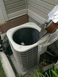Pleasant Grove, UT - A/C tune up. Working on a Bryant condenser.