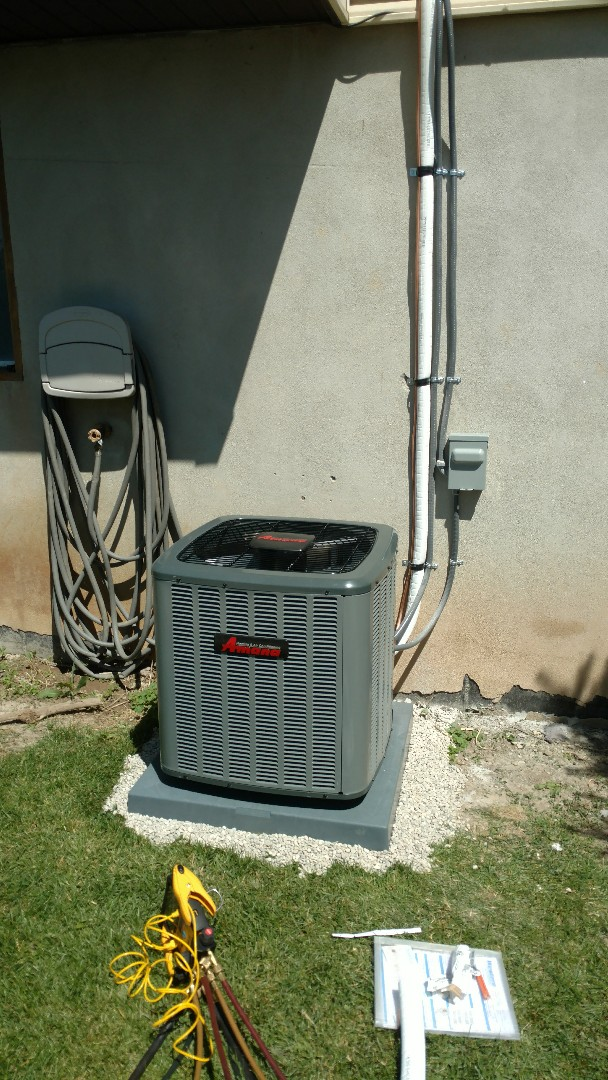 Pleasant Grove, UT - Installed furnace AC condenser and coil line set thermostat and 220 power for outdoor unit