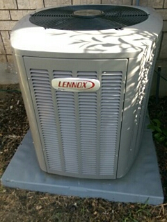 Salem, UT - A/C tune up. Working on a Lennox condenser.