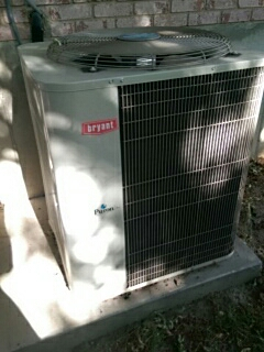 Salem, UT - A/C tune up on a Bryant system. Beginning work on the condenser.