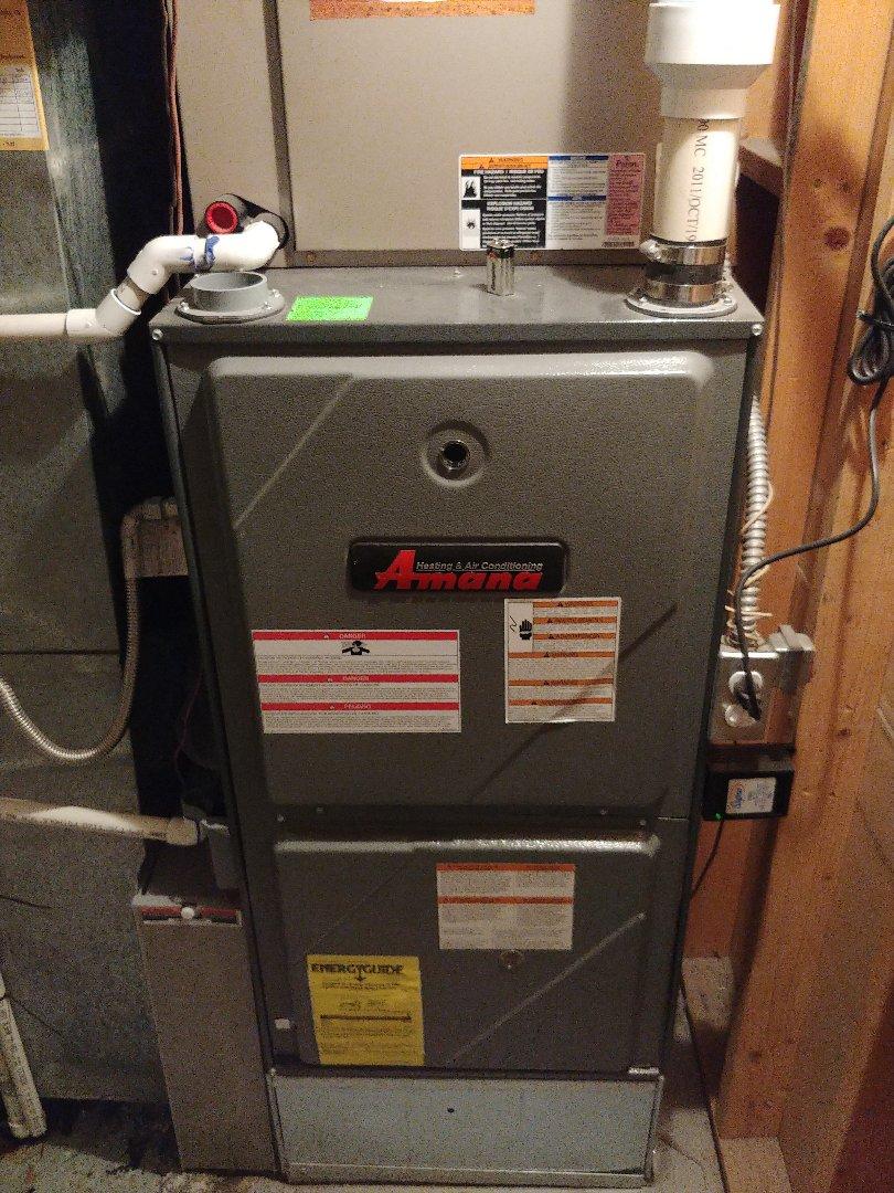 American Fork, UT - An 8 year old Amana furnace repair and maintenance.