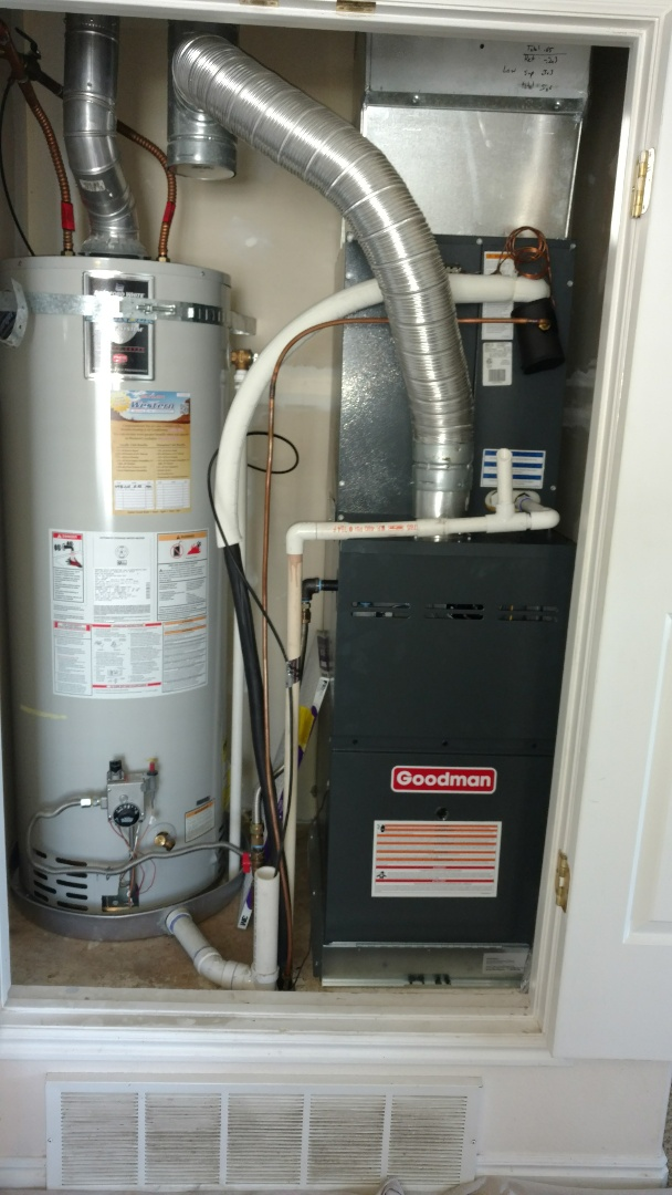 Provo, UT - Removed existing furnace. Installed new furnace and revise Supply. Added filter rack. Revised condensate electrical and gas line.