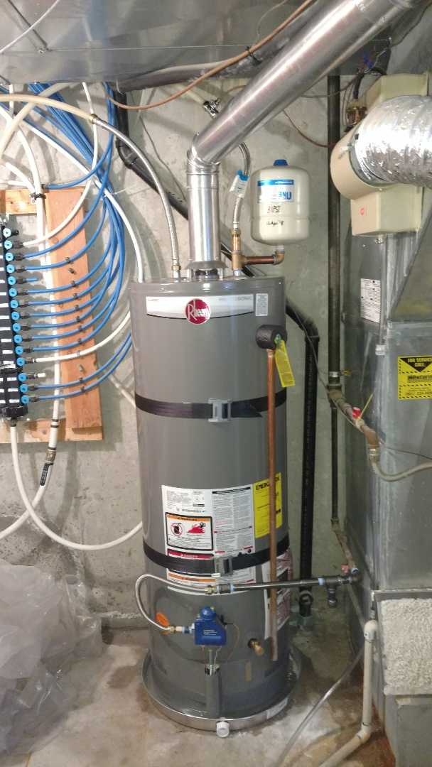 Alpine, UT - Install water heater. Install new drain line and humidifier pad on Bryant humidifier.