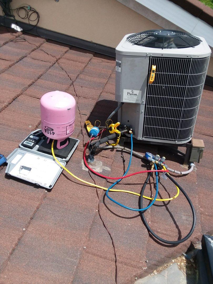 Provo, UT - Added refrigerant to condenser unit Provo