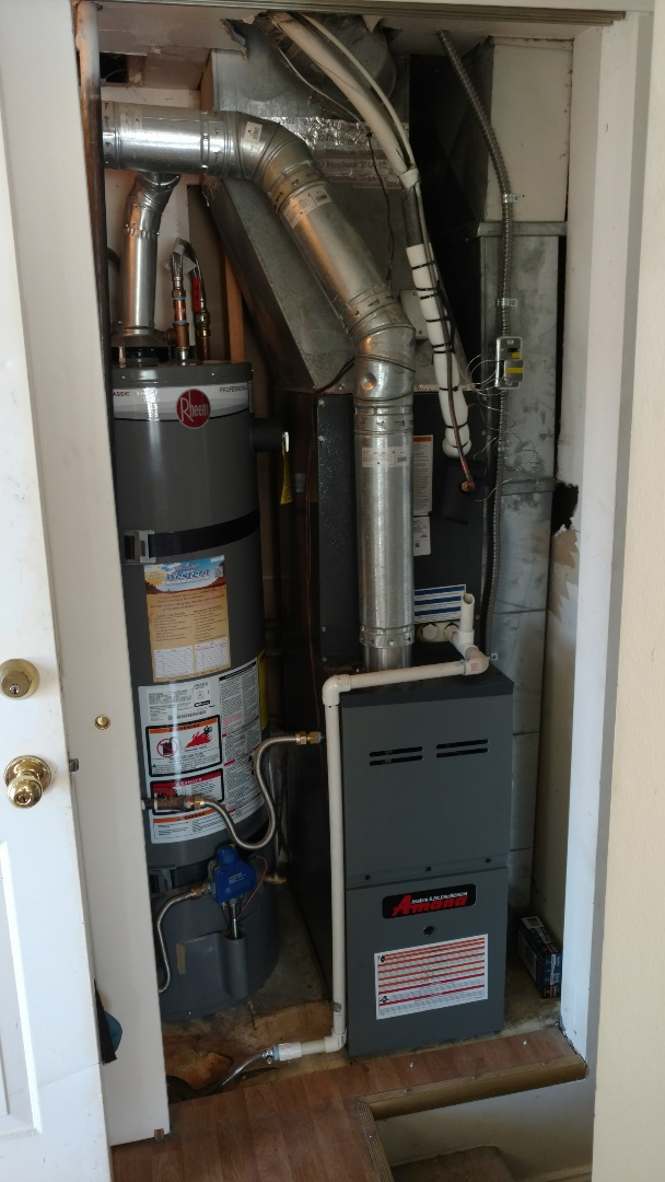 Spanish Fork, UT - Full install of Amana furnace and AC. Installed new water heater.