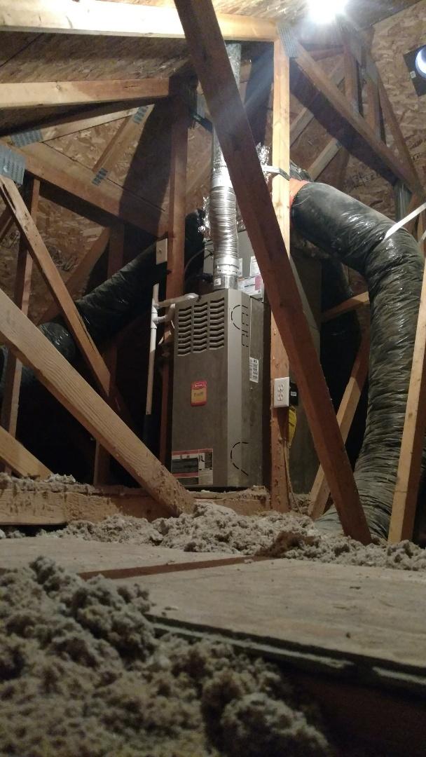 Pleasant Grove, UT - Install Amana AC condenser and coil.