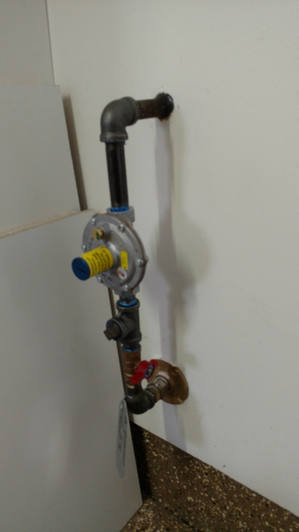 Springville, UT - Install gas line for gas dryer. Ran new thermostat wire to accommodate new thermostat.