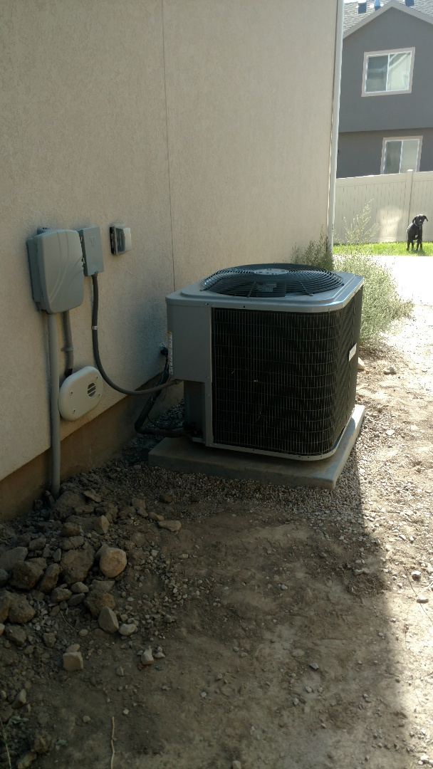Saratoga Springs, UT - Raised, leveled and cleaned tempstar outdoor unit