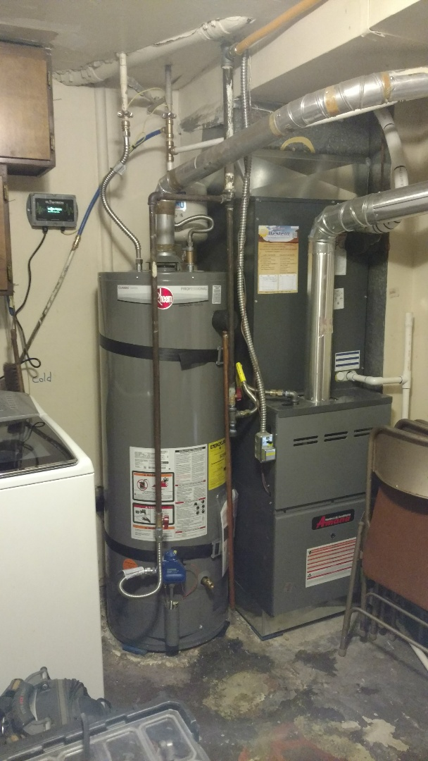 Provo, UT - Install Rheem water heater and expansion tank. Install flow Tech and revised Plumbing.