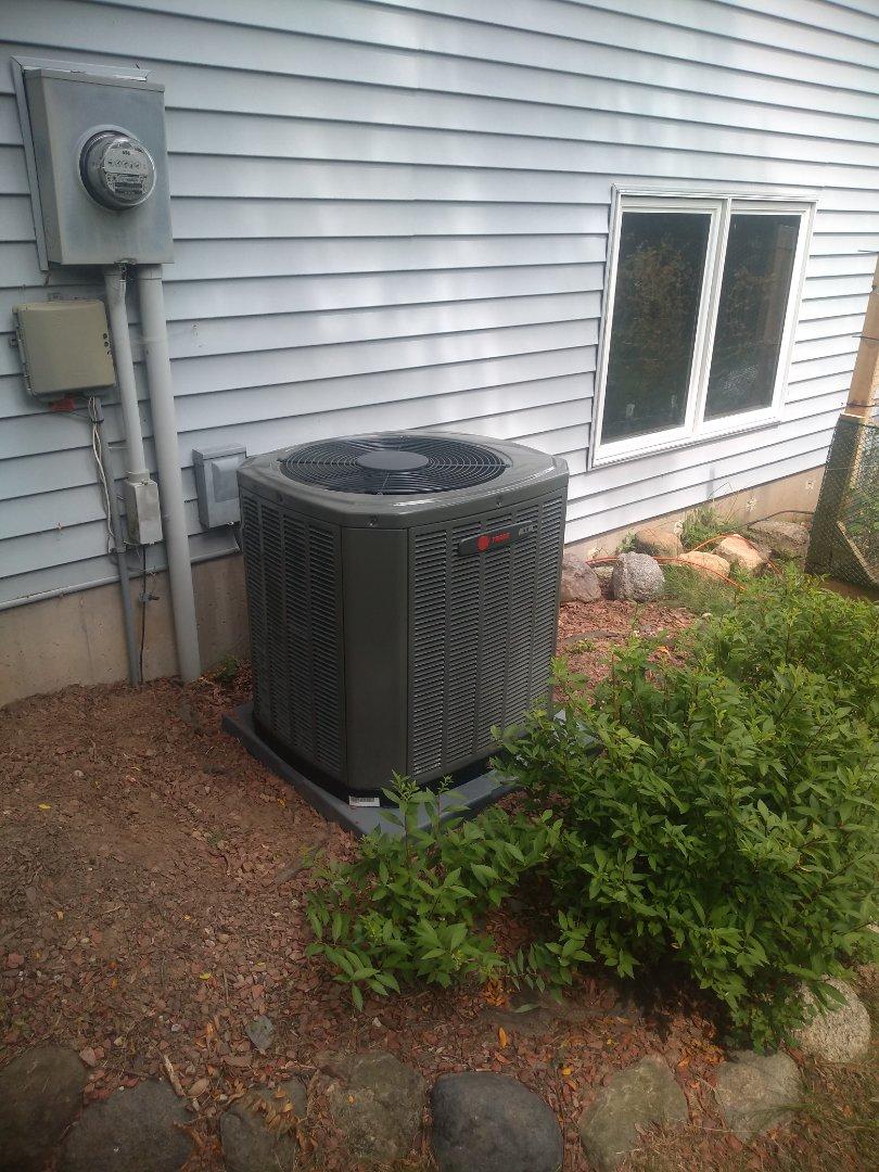 Madison, WI - Trane ac and furnace installation.