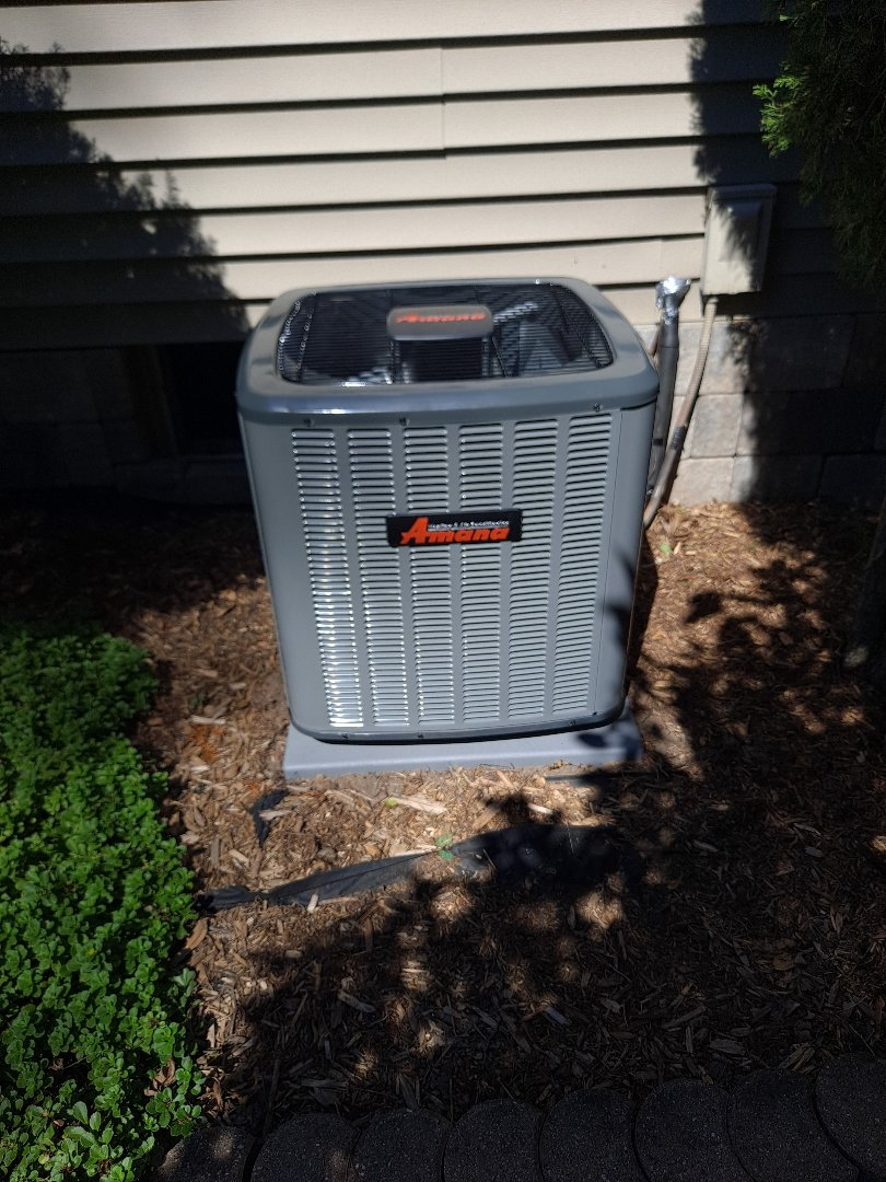 Madison, WI - Amana air conditioner install
