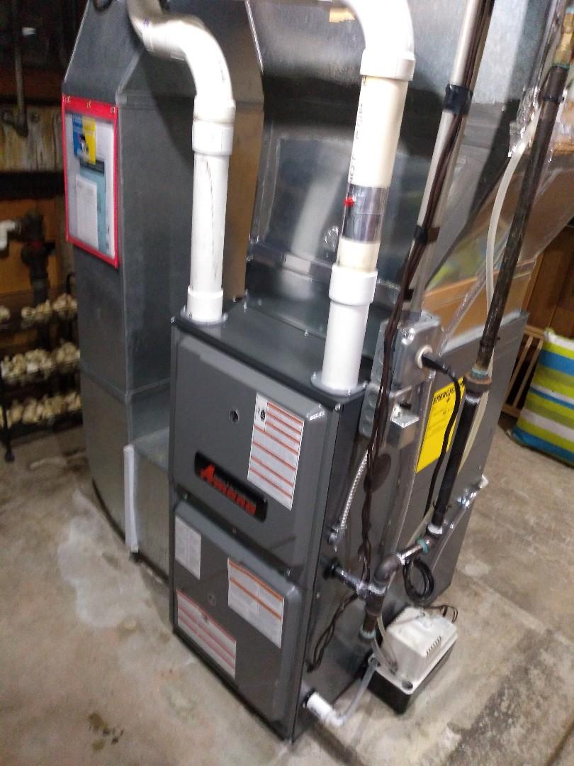 Madison, WI - Furnace and ac installation Amana equipment.