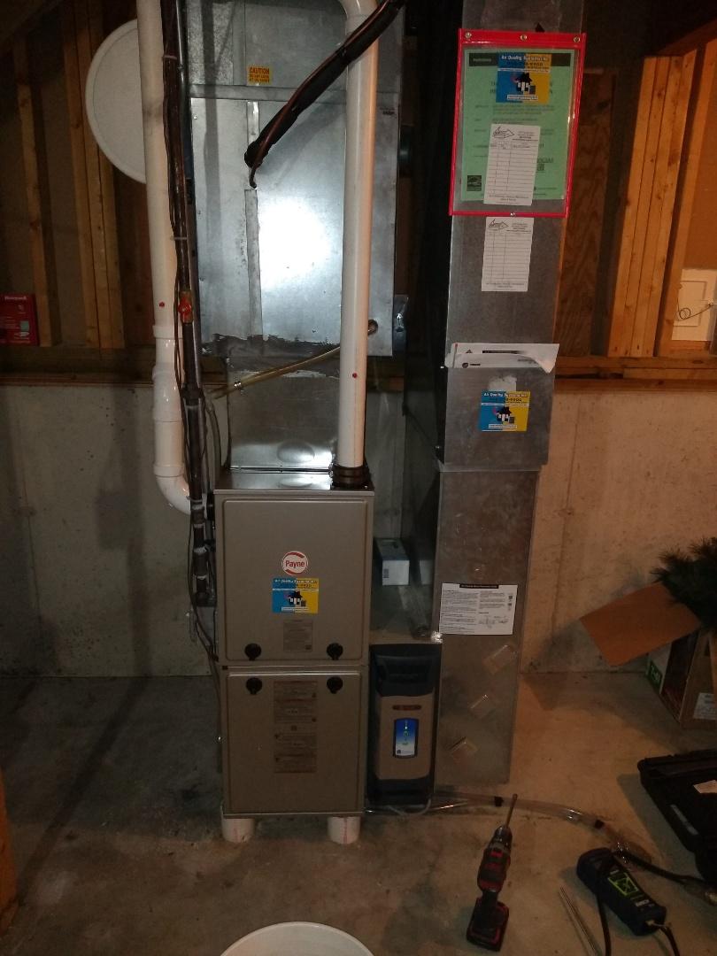 Madison, WI - Payne furnace installation.