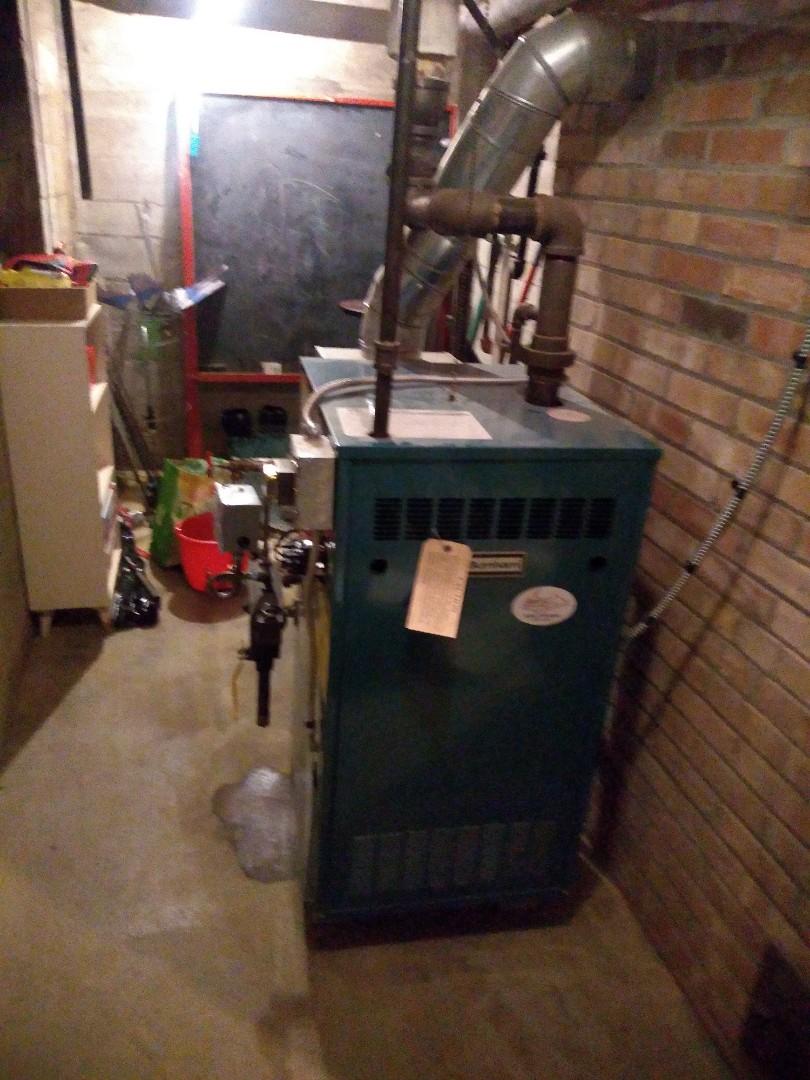 Burnham steam boiler cleaning and maintenance.