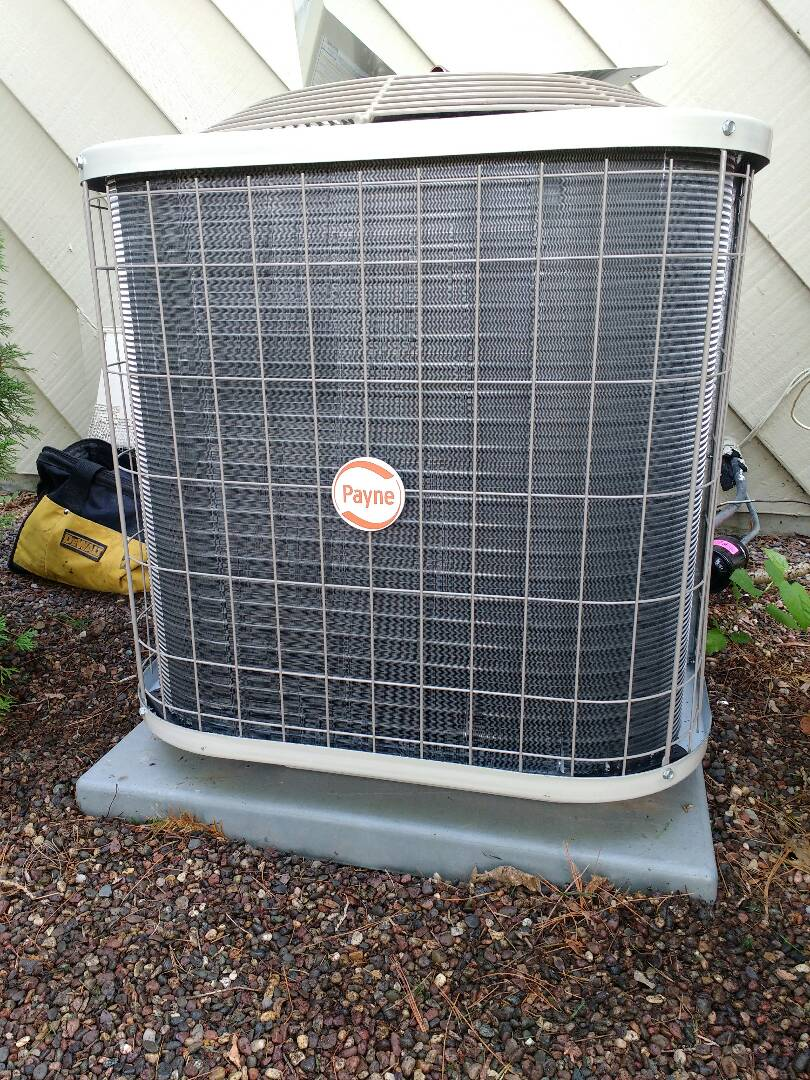 Middleton, WI - Installing new Payne furnace and air conditioner