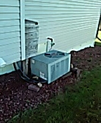 Belleville, WI - AC cleaning. Weathering unit.