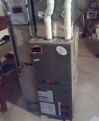 Middleton, WI - Furnace cleaning. Trane unit