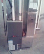 Verona, WI - Furnace cleaning. Trane furnace