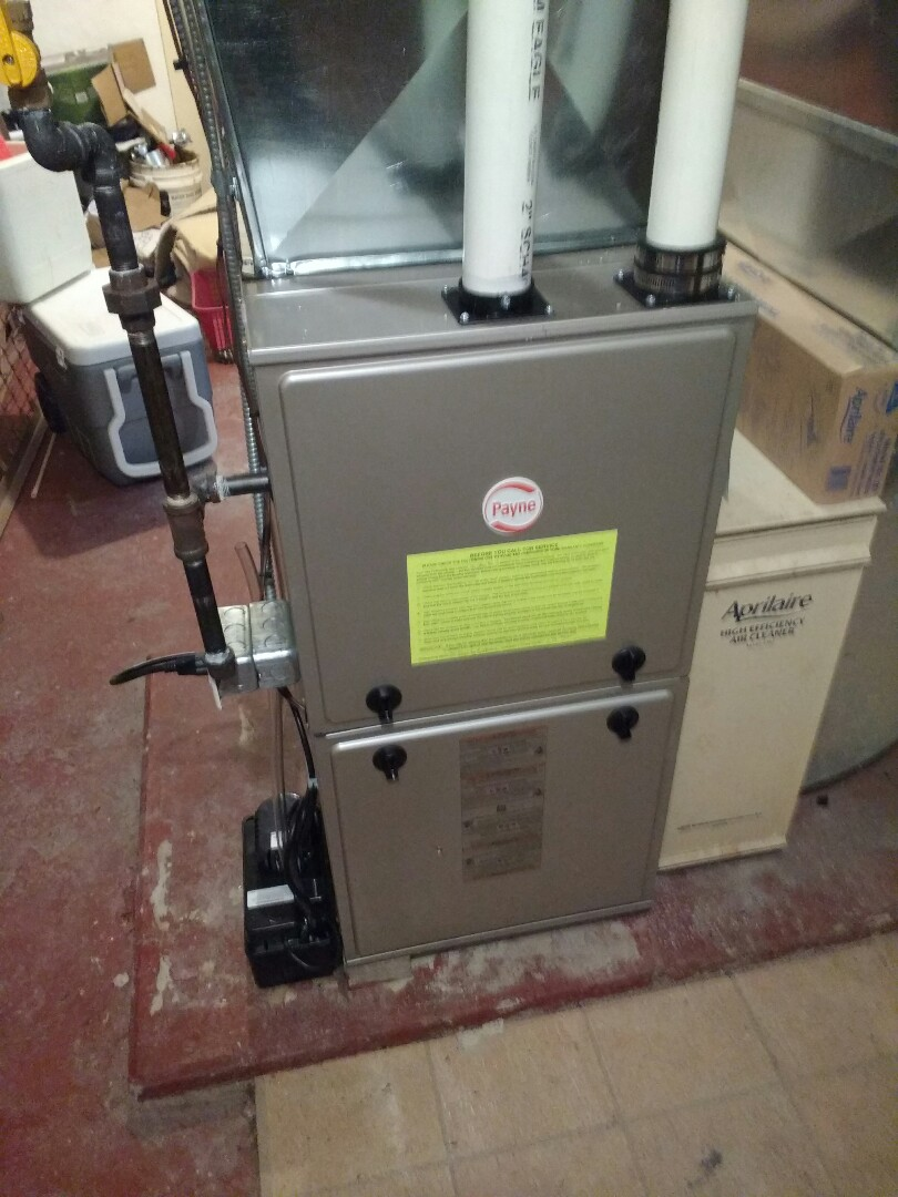 Stoughton, WI - payne Furnace installation