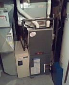 Oregon, WI - Furnace cleaning. Trane furnace