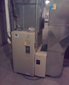 Waunakee, WI - Furnace service. Carrier furnace spacegard air filter