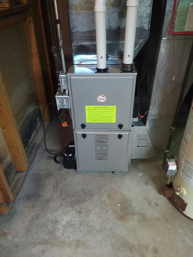 Oregon, WI - Payne furnace installation