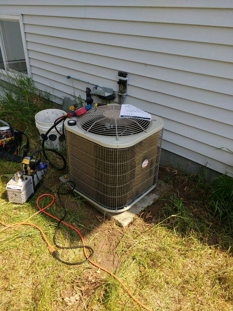 Mazomanie, WI - New air conditioner installation.