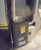 Sun Prairie, WI - Furnace cleaning and maintenance. Ruud unit.