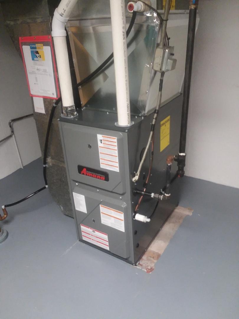 Sun Prairie, WI - Amana furnace installation
