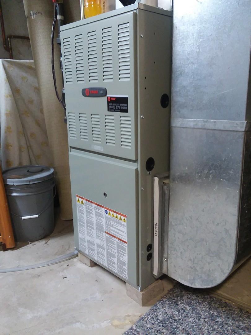 Sun Prairie, WI - Trane furnace installation