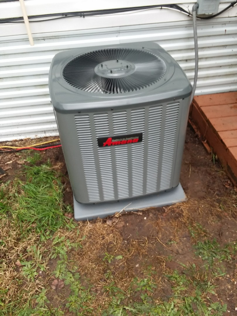 Stoughton, WI - Amana air conditioner installation