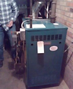Madison, WI - Burnham steam boiler parts replaced and cleaning.