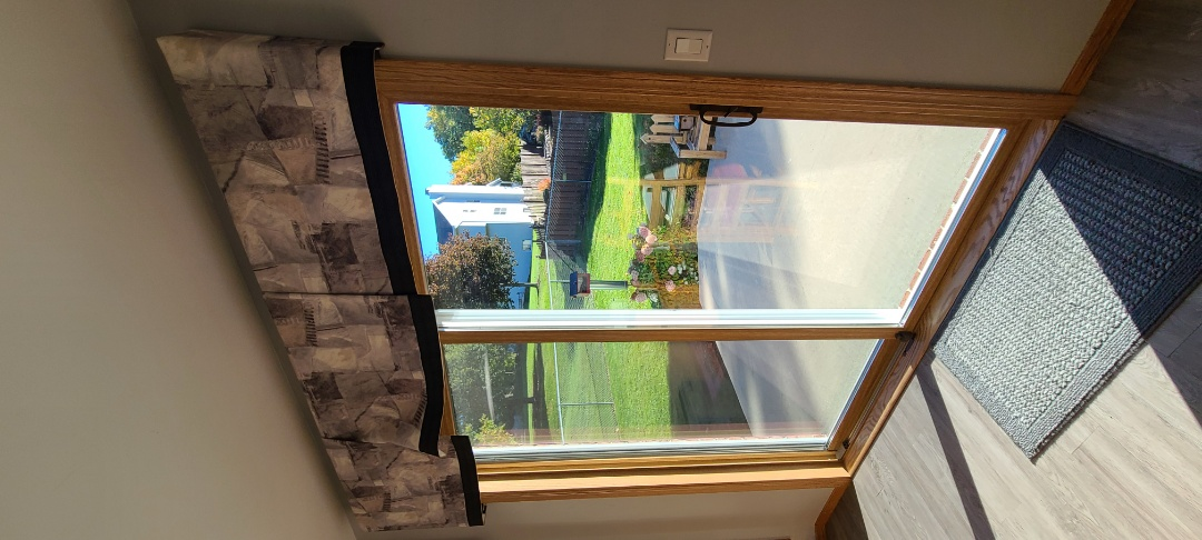 Green Bay, WI - Homeowners are thrilled with the functionality and finish of their new Windows by Unlimited Custom sized patio door.