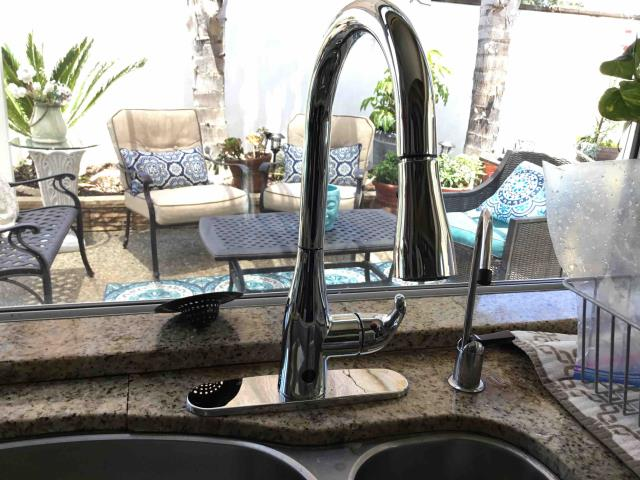 Install customer supplied kitchen faucet