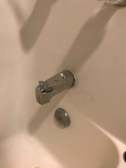 Irvine, CA - Replace corroded tub spout in master bathroom bathtub