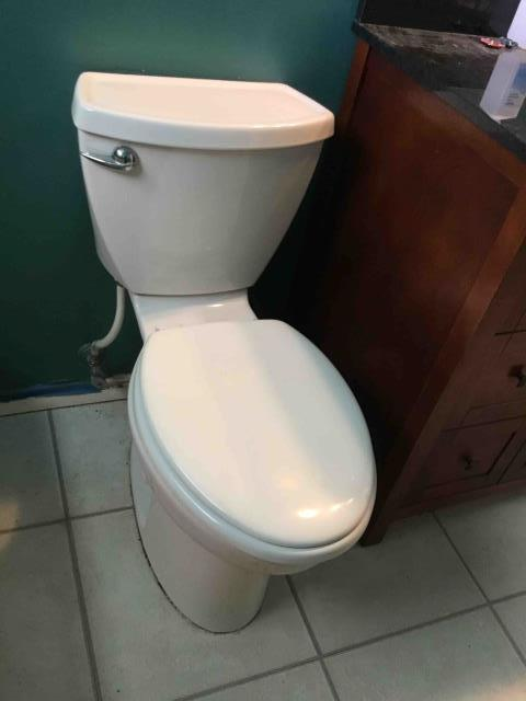 Whittier, CA - Reset hallway bathroom toilet with new wax ring and bolts