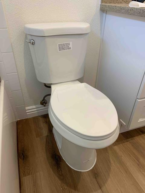 Placentia, CA - Clear clogged toilet in master bathroom