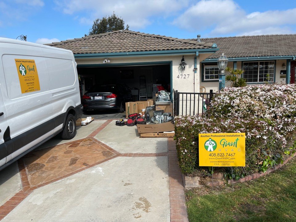 Fremont, CA - Replacing 40 yr old heating system with high quality and efficiency multi stage hybrid heat pump system with all new properly designed duct work.