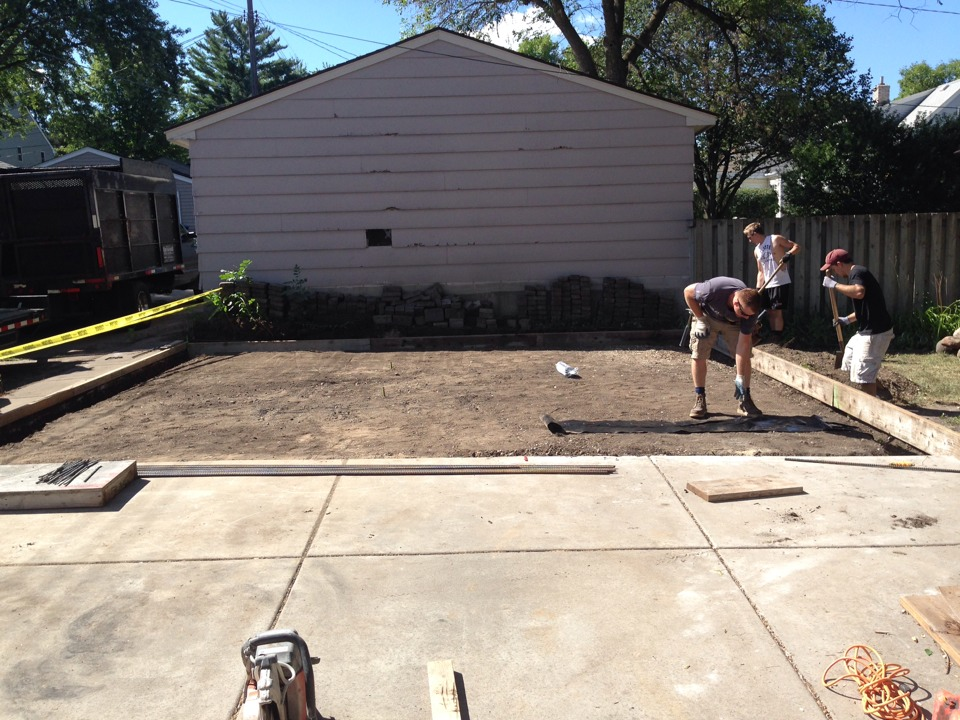 Minneapolis, MN - Getting ready for concrete and the new garage.